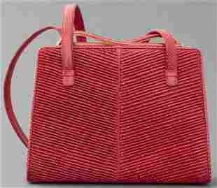 Judith Leiber Red Lizard Handbag