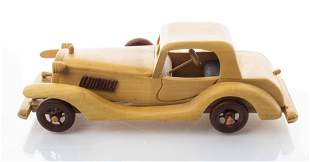 Handcrafted Wooden Vintage Toy / Model Car