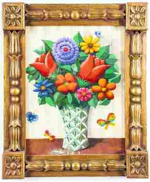 "Otto Storch ""Floral Still Life"" Contemporary Oil"
