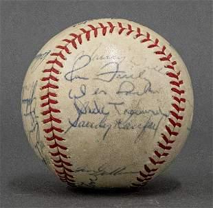 1965 LA Dodgers Team Signed Baseball