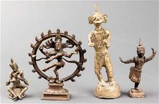Southeast Asian Gilt Metal Temple Icons, 4