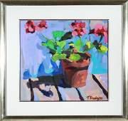 "Tom Dooley ""Floral Still Life"" Watercolor"
