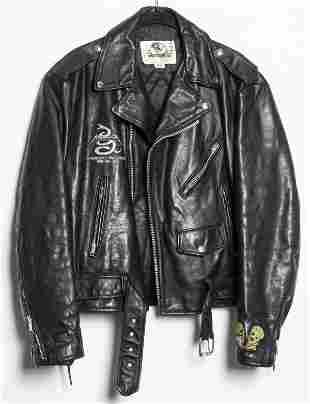Metallica Tour Black Leather Moto Jacket, Size 42