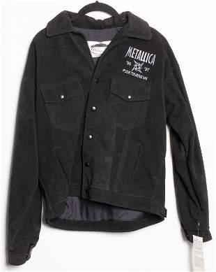 Metallica '96-'97 Tour Black Leather Jacket