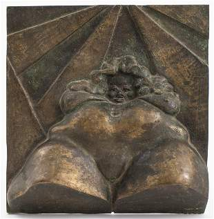 Bronze Wall Plaque of Voluptuous Female Form