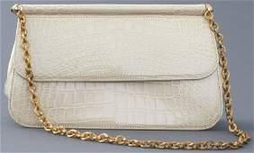 Judith Leiber Beige Alligator Handbag