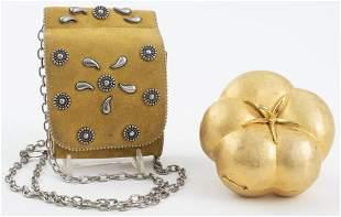 Gold Tone Evening Bags, 2 PCS