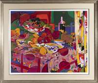 Manel Anoro Still Life With Fruits Large Serigraph