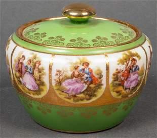 Bavarian Hutschenreuther Porcelain Covered Bowl