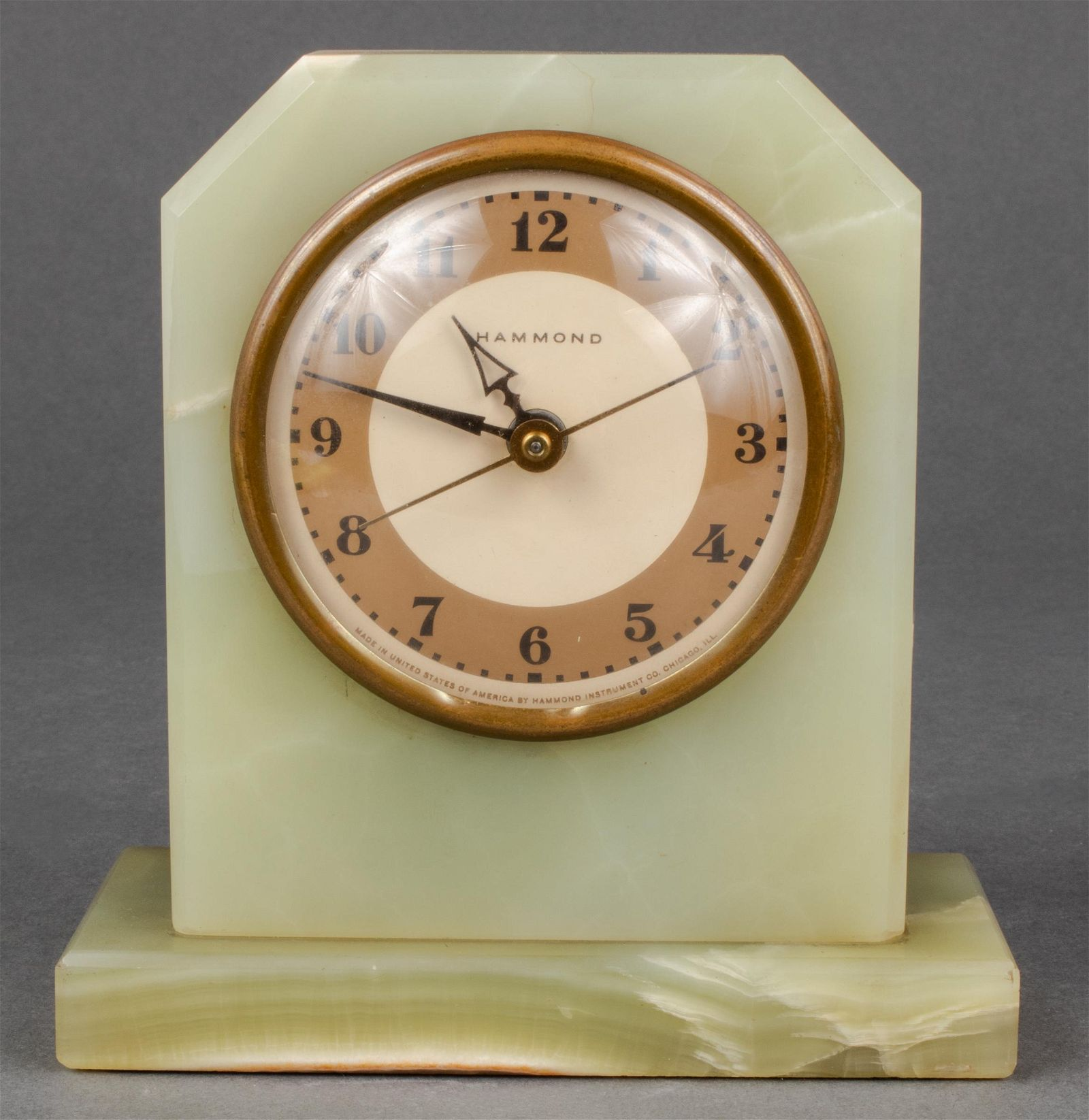 Hammond American Art Deco Desk Clock