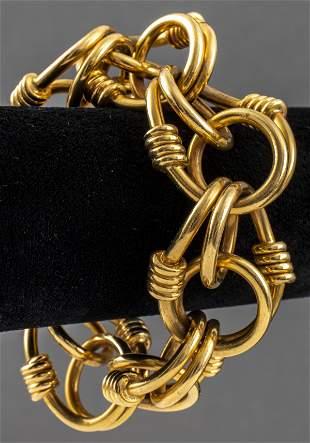 Van Cleef & Arpels 18K Yellow Gold Link Bracelet