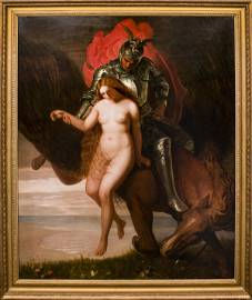 """Joseph Severn """"Angelica Rescued"""" Oil on Canvas"""