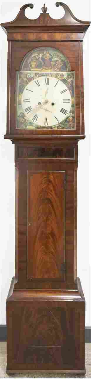 Allegorical Tall Case Clock, Scotland, c. 1830