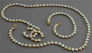 Chanel Adjustable Crystal Logo Pendant Belt