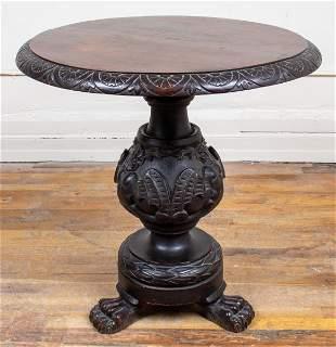 Renaissance Revival Carved Oak Center Table