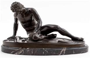 """Grand Tour """"The Dying Gaul"""" Bronze Sculpture"""
