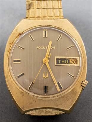 Vintage Bulova Accutron 14K Yellow Gold Watch