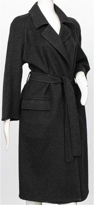 Hermes Paris Grey Cashmere Women's Coat, Size 38