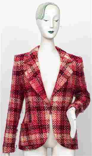 Emanuel Ungaro Vintage Pink Patterned Wool Blazer