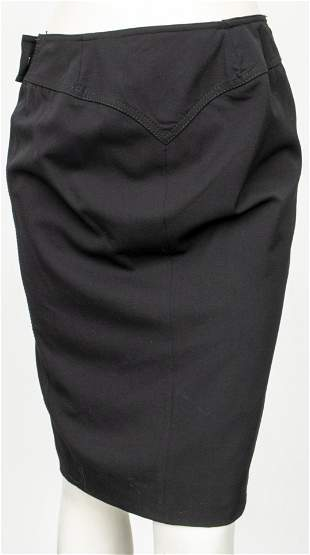 Gucci Black Skirt with Side Slit, Size 44