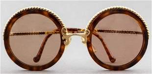 Christian Lacroix Faux-Tortoise Sunglasses