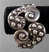 Lus Castillo Taxco Mexican Silver Bangle Bracelet