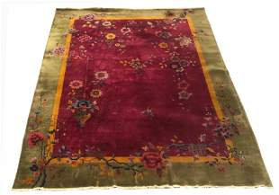 Chinese Nichols Art Deco Carpet, 9' x 12'