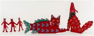 """Joe McAlister """"Cat, Dog, & The Devil"""" Outsider Art"""