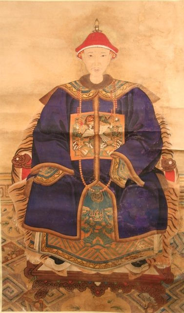 Chinese Scroll Painting of a Male Ancestor 20th C.