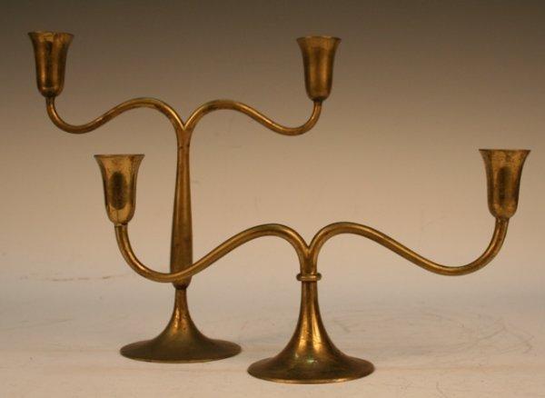 Set of Hagenauer Austrian Deco Brass Candelabra