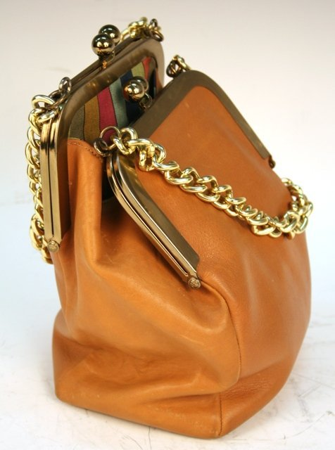 Bonnie Cashin Coach Leather Double-Pocketed Bag
