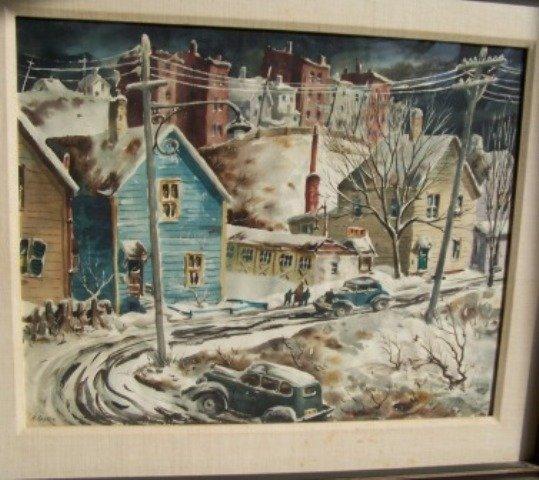 Henry Gasser Landscape Watercolor Harrison Heights