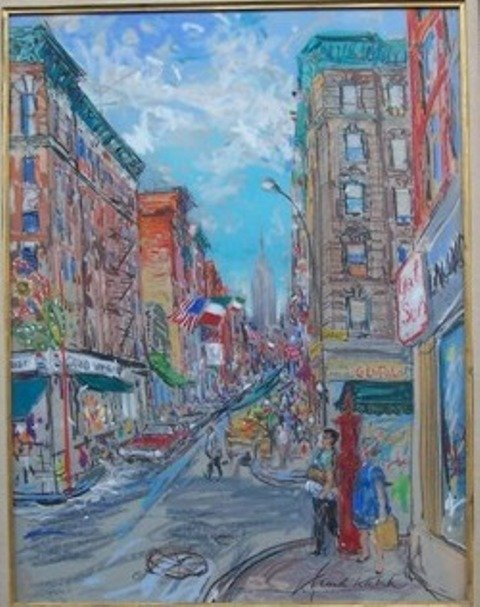 Kamil Kubik Impressionist Pastel Empire State Bldg
