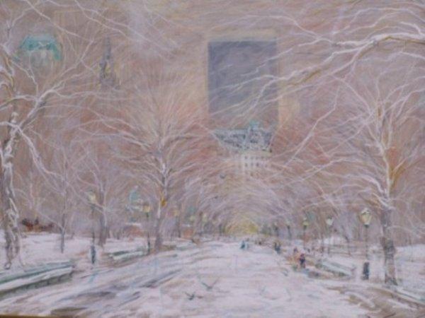 Kamil Kubik Impressionist Pastel Central Park