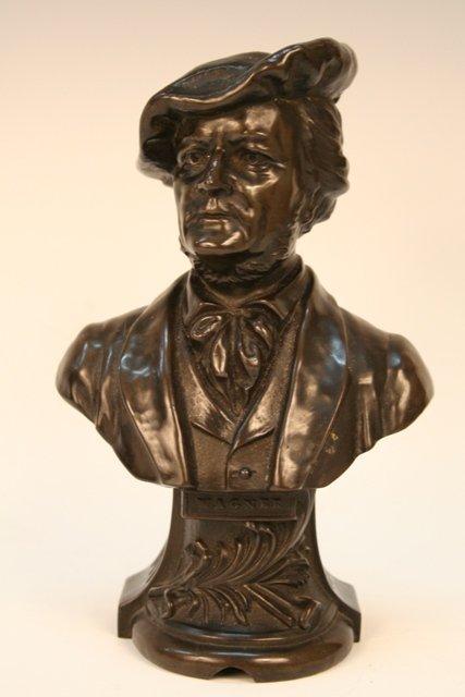 Wagner German Composer Sculpture Bronze Bust