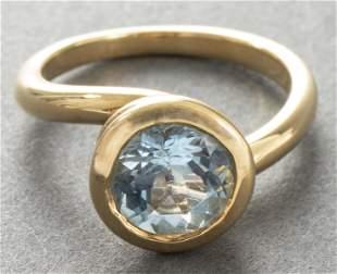 Angela Cummings 18K Yellow Gold Aquamarine Ring i