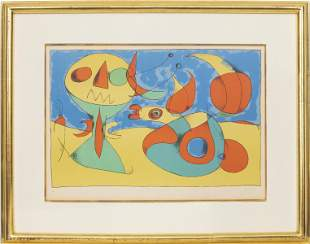 "Joan Miro ""Oiseau Zephyr"" Color Lithograph 1960"