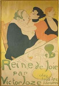 """Toulouse-Lautrec """"Reine De Joie"""" Lithograph"""