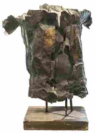 Monumental Brutalist Metal Sculpture