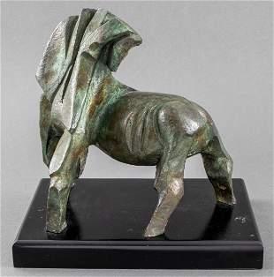 "Yonatan Darmon ""Horse"" Bronze Sculpture"