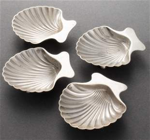 Tiffany & Co. Sterling Silver Shell Form Salts, 4