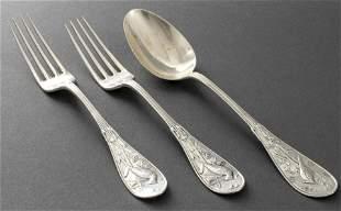 "Tiffany & Co. ""Audubon"" Silver Flatware, 3 Pcs."