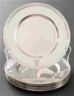 Tiffany & Co. Sterling Silver Bread Plates, 8
