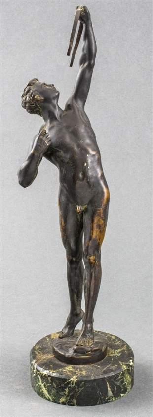 Joseph Uphues 'Bogenschutze' Bronze Figure