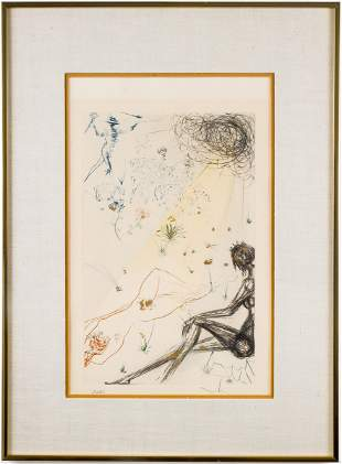 "Salvador Dali ""The Shepherd"" Etching, 1971"