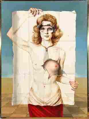 Raymond A. Whyte Surrealist Oil On Canvas