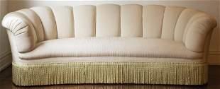 Howard & Sons Attr. Upholstered Demilune Sofa