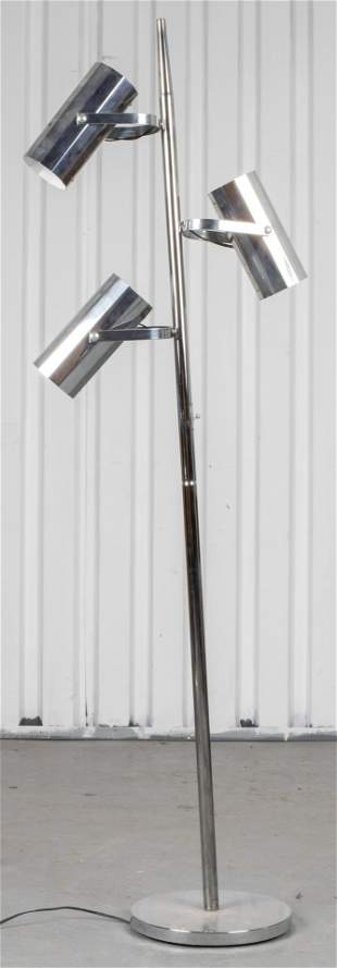 Koch & Lowy Manner Chrome Three Light Floor Lamp