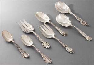 Art Nouveau Silver Serving Pieces, 7