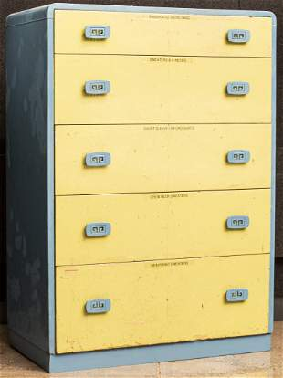 Art Deco Manner Painted Chest of Drawers